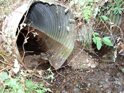Before - Old Rusted Out Culverts